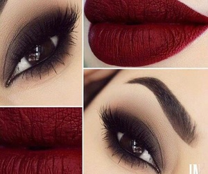 makeup, lips, and red image