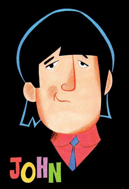 John Lennon The Beatles Cartoon On We Heart It