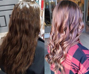 after, before and after, and blonde image