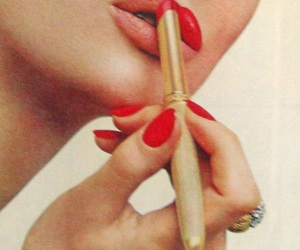 60's, lips, and red lipstick image
