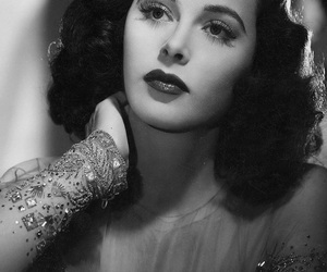 actress, black and white, and classy image