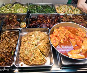 singaporean food and economy rice image