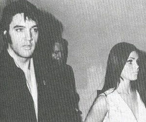 b&w, couple, and Elvis Presley image
