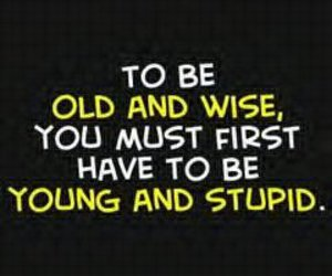 quote, young, and wise image