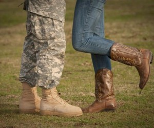 cowboy boots and love image