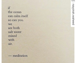 quotes, meditation, and ocean image