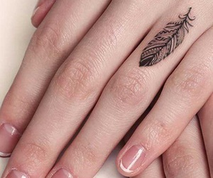 tattoo, feather, and tatoo image
