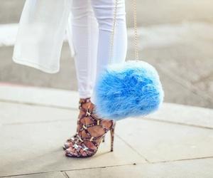 fashion, blue, and heels image