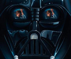 star wars, darth vader, and LUke image