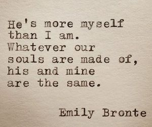 love, quotes, and emily bronte image