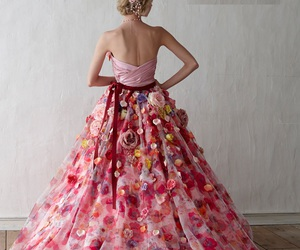 beautiful, floral, and princess image