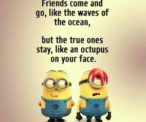 minion, ocean, and quote image