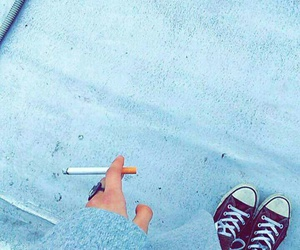cigarette, lonely, and mess image