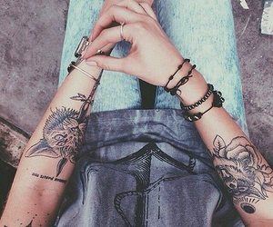 tattoo, grunge, and hipster image