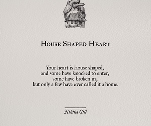 heart, black, and house image