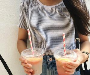 fashion, girl, and juice image