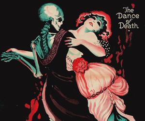 death, dance, and skeleton image