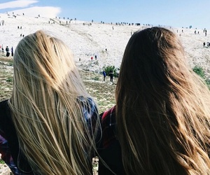 hair, best friends, and bff image