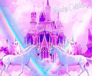 unicorn, pink, and rainbow image