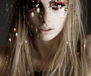 girl, glitter, and model image