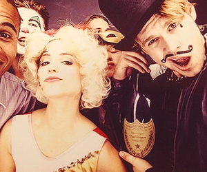 dianna agron, chord overstreet, and glee image