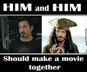 johnny depp, iron man, and movie image
