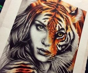 tiger, drawing, and art image