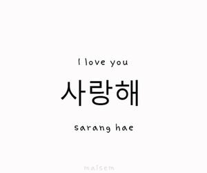 I Love You, saranghae, and korean image