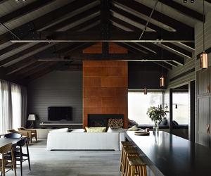 dark, interior, and modern image