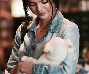 kendall jenner, model, and dog image