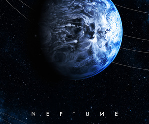 neptune, planet, and space image