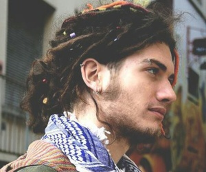 boy, dreads, and hippie image