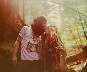 love, couple, and hippie image