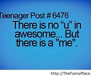 awesome, funny, and me image