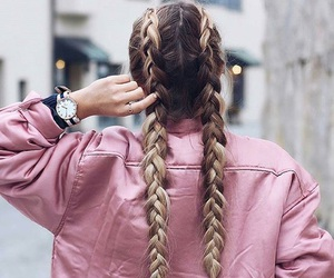 braided, girl, and ring image