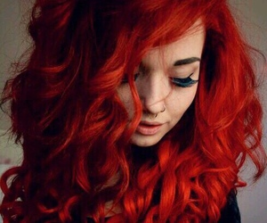 hair, red, and tattoo image