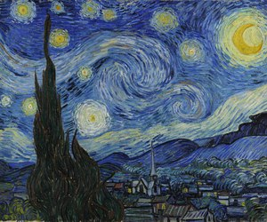 vincent van gogh, 1889, and the starry night image