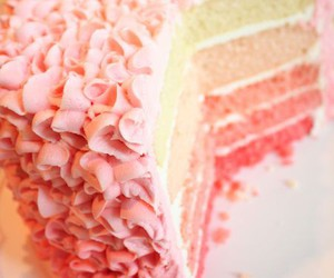 ruffle, birthday cake, and ombre image
