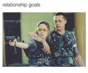 goals, Angelina Jolie, and Relationship image