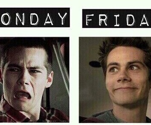 teen wolf, dylan o'brien, and friday image