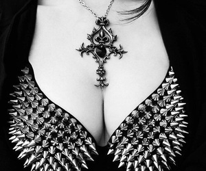 spikes, gothic, and goth image