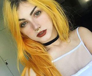 alternative, dyed hair, and orange hair image