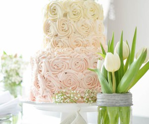 spring, tulips, and pink cake image
