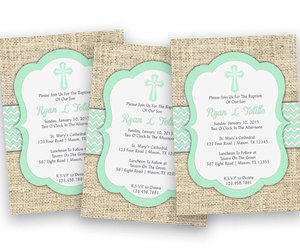 etsy, mint green, and boy baptism image