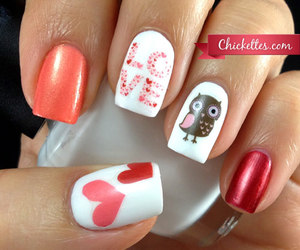 nails, love, and owl image