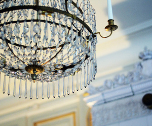 beautiful, candle, and chandelier image