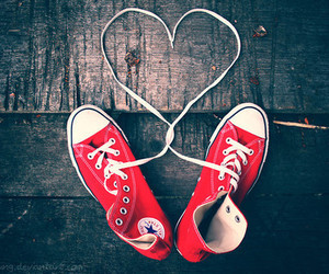 converse, love, and red image