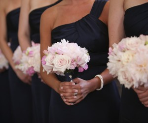 flowers, fashion, and bridesmaids image