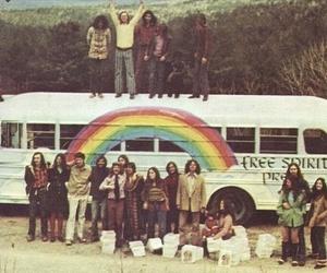 hippie, rainbow, and peace image