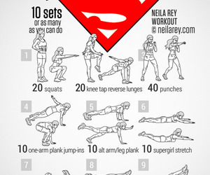 Supergirl, workout, and do it image